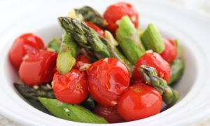 asparagus tomatoes